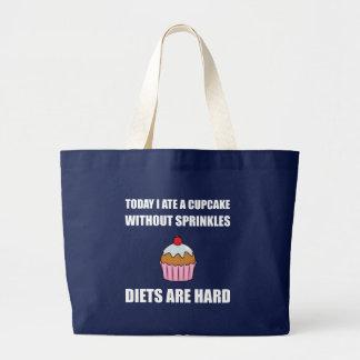 Cupcake Sprinkle Diets Hard Large Tote Bag