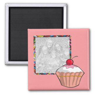 Cupcake & Sprinkles Photo Magnet