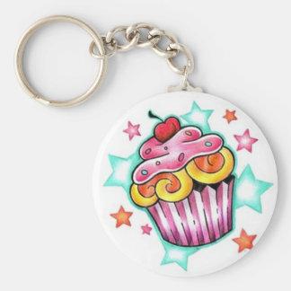 Cupcake STAR Keychain
