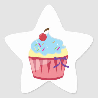 Cupcake Star Sticker