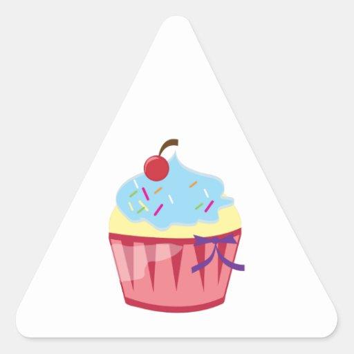 Cupcake Triangle Stickers