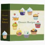 Cupcake Sweet Bakery Dessert Holiday Recipe Binder
