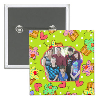 Cupcake Sweets Cupcake Frame Add A Photo 2 Inch Square Button