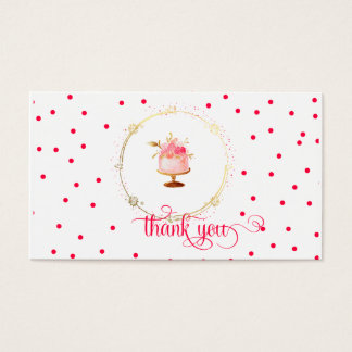 ★ Cupcake thank you card