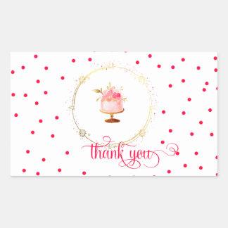 ★  Cupcake thank you Sticker