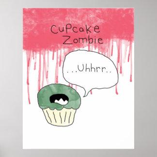 Cupcake themed poster - 'Cupcake zombie'
