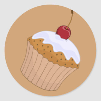 Cupcake Toppers Round Sticker