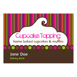 Cupcake Topping Retro Business Cards