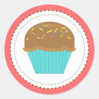 Cupcake Turquoise Aqua Stickers