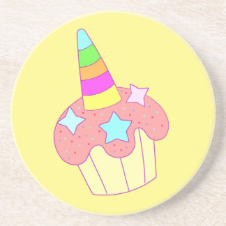 cupcake unicorn coaster