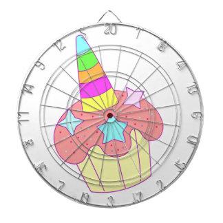 cupcake unicorn dartboard