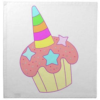 cupcake unicorn napkin