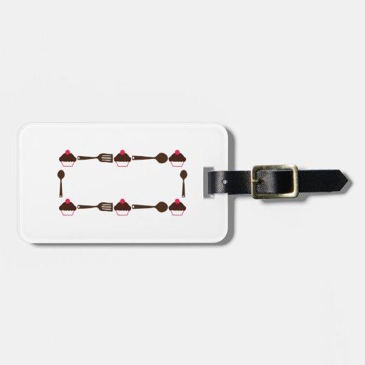 Cupcake Utensil Frame Luggage Tag