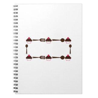 Cupcake Utensil Frame Note Book