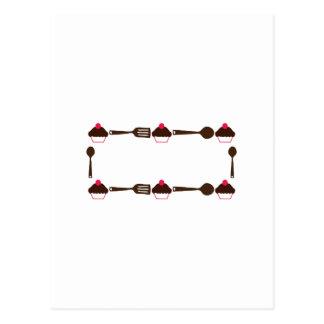 Cupcake Utensil Frame Postcard