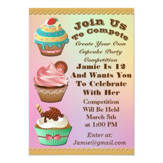Cupcake Wars Bake Off Birthday Aurora Multi Invite