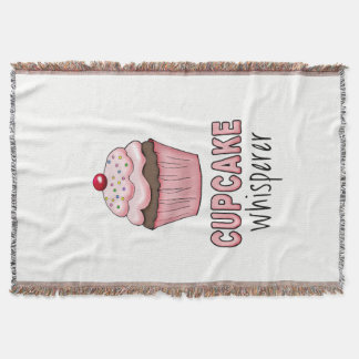 Cupcake Whisperer Throw Blanket