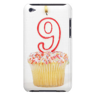 Cupcake with a numbered birthday candle 3 Case-Mate iPod touch case