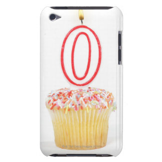 Cupcake with a numbered birthday candle iPod touch case