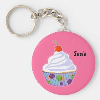 Cupcake with cherry keychain