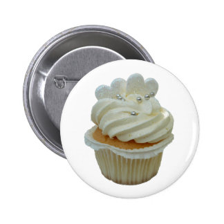 Cupcake with hearts 2 inch round button