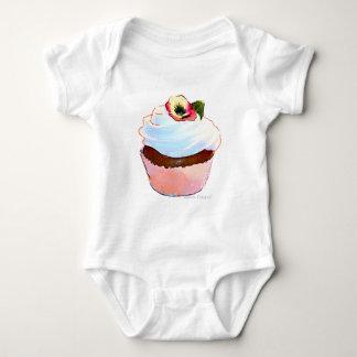 Cupcake with Pansy Art Design Tee Shirts