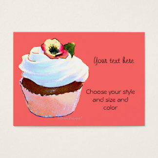 Cupcake with Pansy Business Card