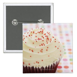 Cupcake with sprinkles 2 inch square button