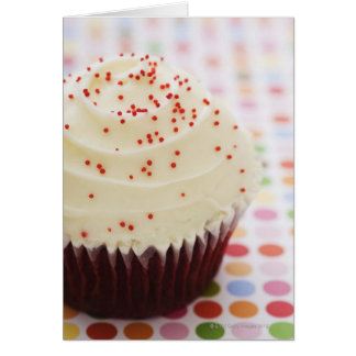 Cupcake with sprinkles card