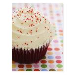 Cupcake with sprinkles post card