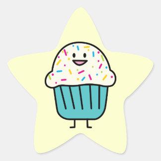 Cupcake with Sprinkles Star Sticker