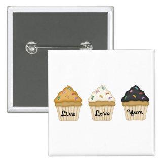 Cupcake Yum 2 Inch Square Button