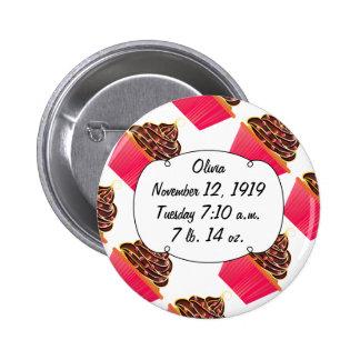 Cupcakes 2 Inch Round Button