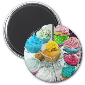 Cupcakes 2 Inch Round Magnet
