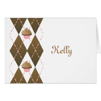 Cupcakes and Argyle Card