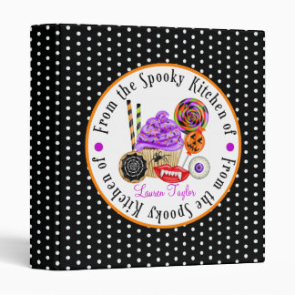 Cupcakes and Candy Halloween Recipe Binder