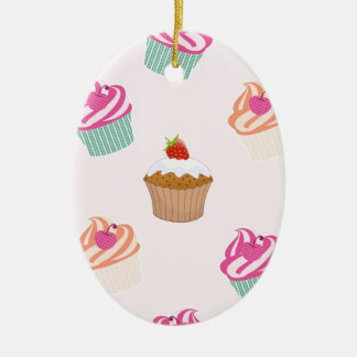 Cupcakes And Muffins Ceramic Ornament