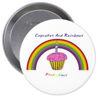 Cupcakes and Rainbows Productions Round Pin