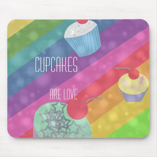 Cupcakes Are Love mousepad