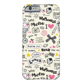 Cupcakes, bows, hearts, girly girl pattern. barely there iPhone 6 case