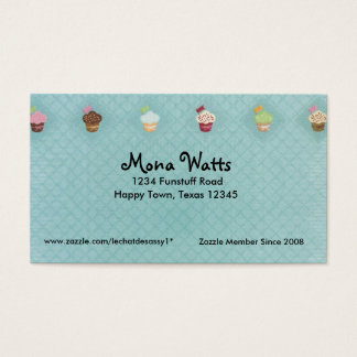 Cupcakes business card