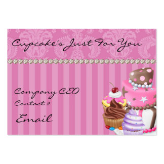 Cupcake's Chic Damask Bling Design  Business Card