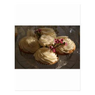 Cupcakes closeup postcard