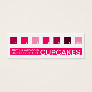 CUPCAKES customer appreciation (mod squares) Mini Business Card