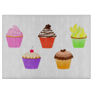 Cupcakes Cutting Board
