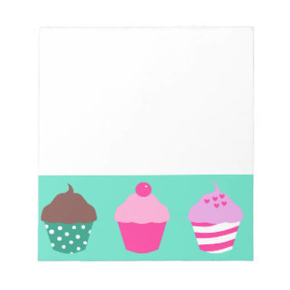 Cupcakes design notepad