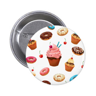 Cupcakes Donuts 2 Inch Round Button