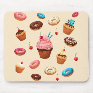 Cupcakes Donuts Mouse Pad