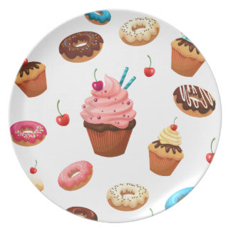 Cupcakes Donuts Party Plates