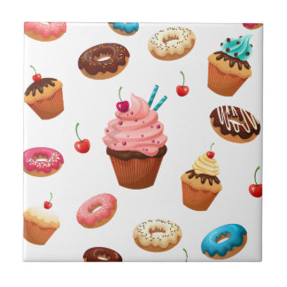 Cupcakes Donuts Tile